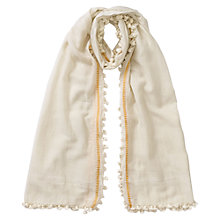 Buy East Pompom Scarf, Calico Online at johnlewis.com