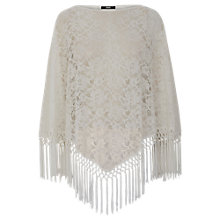 Buy Oasis Lace Poncho, Cream Online at johnlewis.com
