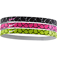 Buy Nike Print Headband, Multi Online at johnlewis.com