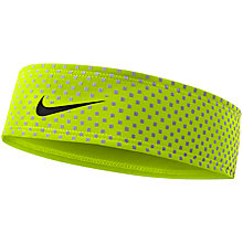 Buy Nike 360 Headband, Volt/Black Online at johnlewis.com