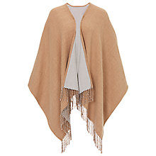 Buy Betty Barclay Fringed Poncho Wrap, Camel/Grey Online at johnlewis.com