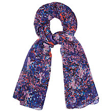 Buy L.K. Bennett Danella Silk Scarf, Purple Online at johnlewis.com