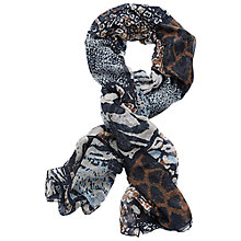 Buy Betty Barclay Long Animal Print Scarf, Dark Blue/Cream Online at johnlewis.com