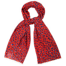 Buy L.K. Bennett Leni Printed Scarf, Red Multi Online at johnlewis.com