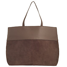 Buy John Lewis Earlene Large Leather Tote, Grey Online at johnlewis.com