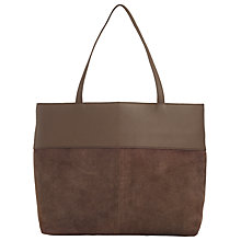 Buy John Lewis Ebony Medium Leather Tote, Grey Online at johnlewis.com