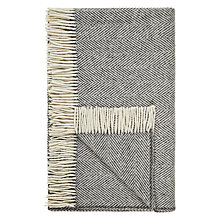 Buy Avoca Heavy Herringbone Wool Throw Online at johnlewis.com