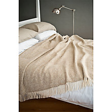 Buy Avoca Heavy Herringbone Throw Online at johnlewis.com