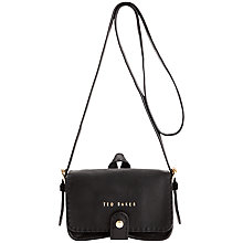 Buy Ted Baker Minimar Stab Stitch Leather Cross Body Bag Online at johnlewis.com