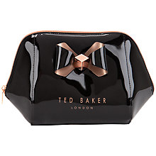 Buy Ted Baker Rochel Extra Large Bow Wash Bag, Black Online at johnlewis.com