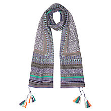 Buy East Hand Stitched Print Scarf, Lavender Online at johnlewis.com