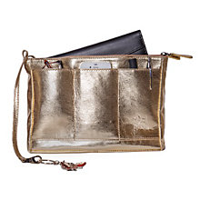 Buy Reddog Large Leather Bag Pod Pouch Purse, Gold Online at johnlewis.com