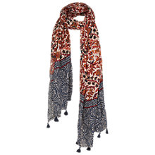 Buy Fat Face Fire Bird Print Scarf, Multi Online at johnlewis.com