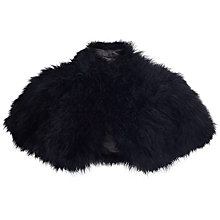 Buy John Lewis Feather Wrap, Black Online at johnlewis.com