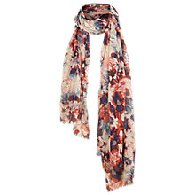Buy Fat Face Abstract Floral Print Scarf, Pink/Multi Online at johnlewis.com
