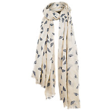 Buy Fat Face Bumblebee Print Scarf, Cream Online at johnlewis.com