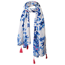 Buy Fat Face Floral Bud Print Scarf, Blue Online at johnlewis.com