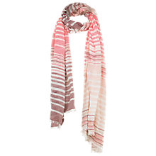 Buy Fat Face Multi Stripe Scarf, Pink Online at johnlewis.com
