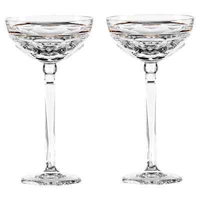 Jo Sampson at Waterford Elysian Clear Champagne Coupe, Set of 2