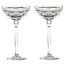 Buy Waterford Elysian Clear Champagne Coupe, Set of 2 Online at johnlewis.com