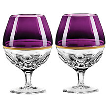 Buy Jo Sampson at Waterford Elysian Amethyst Brandy Glasses, Set of 2 Online at johnlewis.com