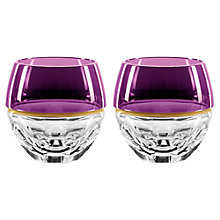 Buy Jo Sampson at Waterford Elysian Rock Glass, Amethyst, Set of 2 Online at johnlewis.com
