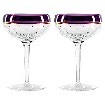 Jo Sampson at Waterford Elysian Amethyst Champagne Coupe, Set of 2