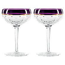Buy Waterford Elysian Amethyst Champagne Coupe, Set of 2 Online at johnlewis.com