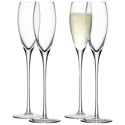 LSA International Bar Collection Champagne Flutes, Set of 4