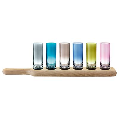 LSA International Paddle Vodka Set, Coloured