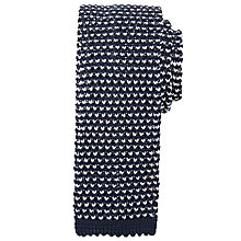 Buy Kin by John Lewis Dalton Knitted Tie, Navy/White Online at johnlewis.com