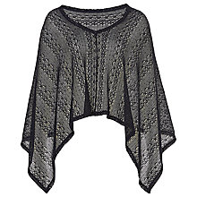 Buy Betty Barclay V-Neck Short Poncho, Deep Navy Online at johnlewis.com