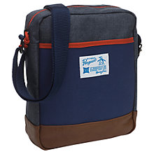 Buy Original Penguin Colour Block Flight Bag, Blue/Multi Online at johnlewis.com