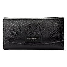 Buy Aspinal of London Brook Street Leather Purse, Black Online at johnlewis.com