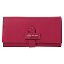 Buy Aspinal of London Leather London Ladies Purse, Fushia Online at johnlewis.com