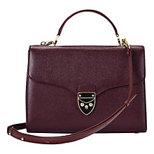Buy Aspinal of London Mayfair Leather Bag, Burgundy Online at johnlewis.com