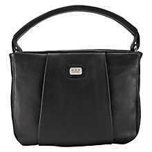Buy O.S.P OSPREY Cadiz Leather Grab Bag, Black Online at johnlewis.com