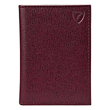 Buy Aspinal of London Credit Card Case, Burgundy Online at johnlewis.com