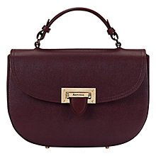 Buy Aspinal of London Letterbox Leather Saddle Bag, Red Online at johnlewis.com