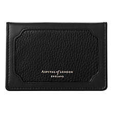 Buy Aspinal of London Marylebone Double Fold Leather Credit Card Case, Black Online at johnlewis.com