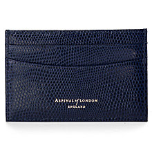 Buy Aspinal of London Leather Slim Credit Card Case, Midnight Blue Online at johnlewis.com