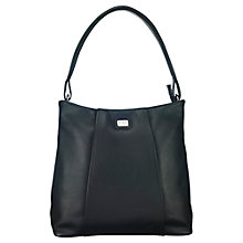 Buy O.S.P OSPREY Cadiz Leather Hobo Bag, Black Online at johnlewis.com