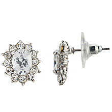 Buy John Lewis Cubic Zirconia Cushion Stud Earrings, Silver Online at johnlewis.com