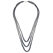 Buy John Lewis Sparkle Long Layered Necklace, Navy Online at johnlewis.com