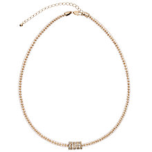 Buy John Lewis Ball and Glass Stone Pave Necklace Online at johnlewis.com