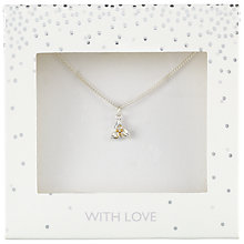Buy John Lewis Holly Pendant Necklace, Silver Online at johnlewis.com