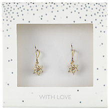 Buy John Lewis Pave Snowflake Drop Earrings, Gold Online at johnlewis.com