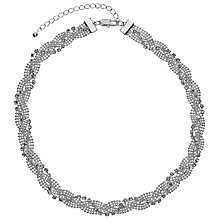 Buy John Lewis Entwine Pave Chain Necklace, Silver Online at johnlewis.com