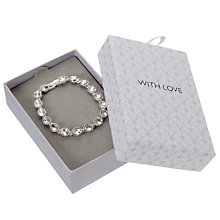 Buy John Lewis Sterling Silver Tennis Bracelet, Silver Online at johnlewis.com