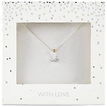 Buy John Lewis Small Christmas Tree Pendant, Silver Online at johnlewis.com